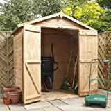 4ft x 6ft Shiplap Apex Wooden Storage Shed - Brand New 4x6 Tongue and Groove Sheds