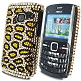Diamond Leopard Spot - Hard Mobile Phone Case Cover Cover For Nokia C3-00 / Yellow