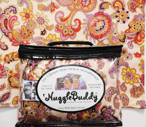 """'Nugglebuddy Moist Heat & Aromatherapy Organic Rice Pack For Microwave. Beautiful """"Dawn Paisley"""" Fabric With """"Sweet Lavender"""" Aromatherapy. Great Gift Idea! See Many Other 'Nugglebuddy Selections By Searching For Nugglebuddy Under """"All Departments."""""""