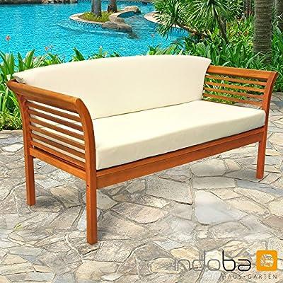 indoba® IND-70109-SO - Serie Samoa - Gartensofa 3-Sitzer - Loungesofa aus Holz FSC zertifiziert - 1 Sofa + 2 Polsterauflagen von indoba bei Gartenmöbel von Du und Dein Garten