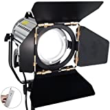 ASHANKS Wireless Remote Control Dimmable Spotlights LED150W LED Studio Fresnel Spot Light 3200-5500K for Camera Photo Video (Color: Black, Tamaño: 150W)