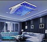 lingtm cristal contemporain moderne plafonnier LED Place de garniture de erröten plafonniers pour le salon chambre d'enfant chambre à coucher salle à manger medium (35w import source, send remote control)