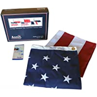 Annin American 4' x 6' Flag with Sewn Stripes Embroidered Stars and Brass Grommets