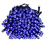 Qedertek Battery Powered 200 LED Outdoor String Lights - 50ft Fairy Decorative Christmas Lights for Indoor Outdoor Decor - Home - Garden - Patio - Lawn and Party Decorations - Waterproof (Blue)