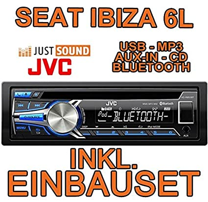 Seat ibiza 6L jVC-kD-r852BT-bluetooth/mP3/uSB avec kit de montage