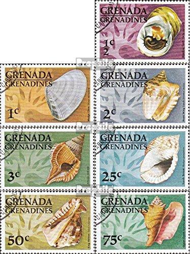 Grenada-Grenadinen 132-138 (kompl.Ausg.) gestempelt 1976 Muscheln und Schnecken (Briefmarken für Sammler)