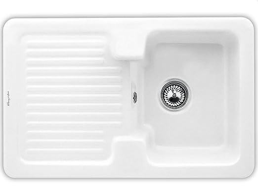 Villeroy & Boch Condor 45 de nieve Colour blanco y cojín de platillos de cerámica-fregadero blanco de la cocina