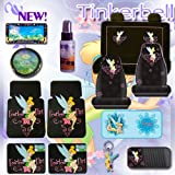 61b1kx0WFPL. SL160  NEW 15 Pcs Complete Tinkerbell Fearless Flirt Combo Front Rear Car Floor Mats, Seat Covers, Rear Bench Set Cover, Steering Wheel Cover, License Plate Frame, CD Organizer, Large Sunshade, Key Chain and a 2oz Travel Size Purple Slice the Multi Purpose Detailer and Cleaner