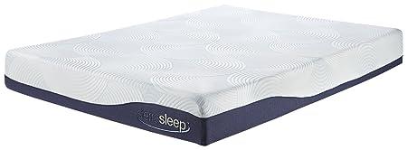 "Sierra Sleep by Ashley M97221 9"" Memory Foam/Gel Mattress, Full, White"