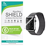 Apple Watch 42mm Screen Protector (Series 3 2 1) [6-Pack] RinoGear Case Friendly iWatch Screen Protector for Apple Watch Series 3 42mm Accessory Full Coverage Clear Film