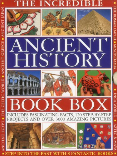 THE INCREDIBLE ANCIENT HISTORY BOOK BOX: Step into the past with 8 fantastic books: Ancient Greece, The Inca World, Mesopotamia, The Roman Empire, ... The Aztec & Maya Worlds, The Celtic Worlds
