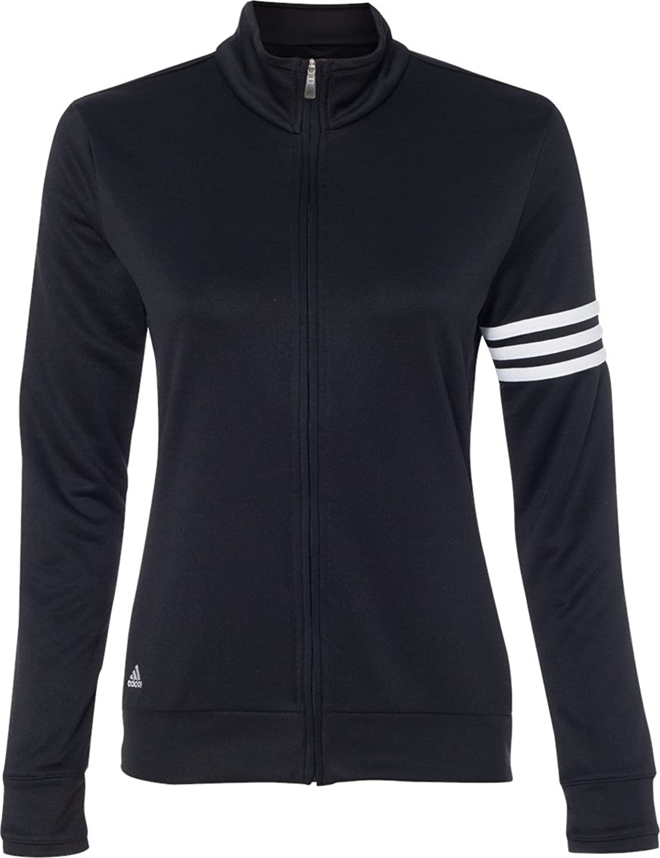 Adidas Ladies' 3-Stripes Full Zip Pullover Jacket A191 adidas adidas russia 3 stripes cap