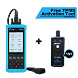 Launch CR8001S Code Reader Oil/EPB/SAS/BMS Reset OBD2 Scanner Scan Tool Testing Engine/Transmission/ABS/Airbag System + TPMS Activation Tool (Tamaño: CR8001S+TPMS)