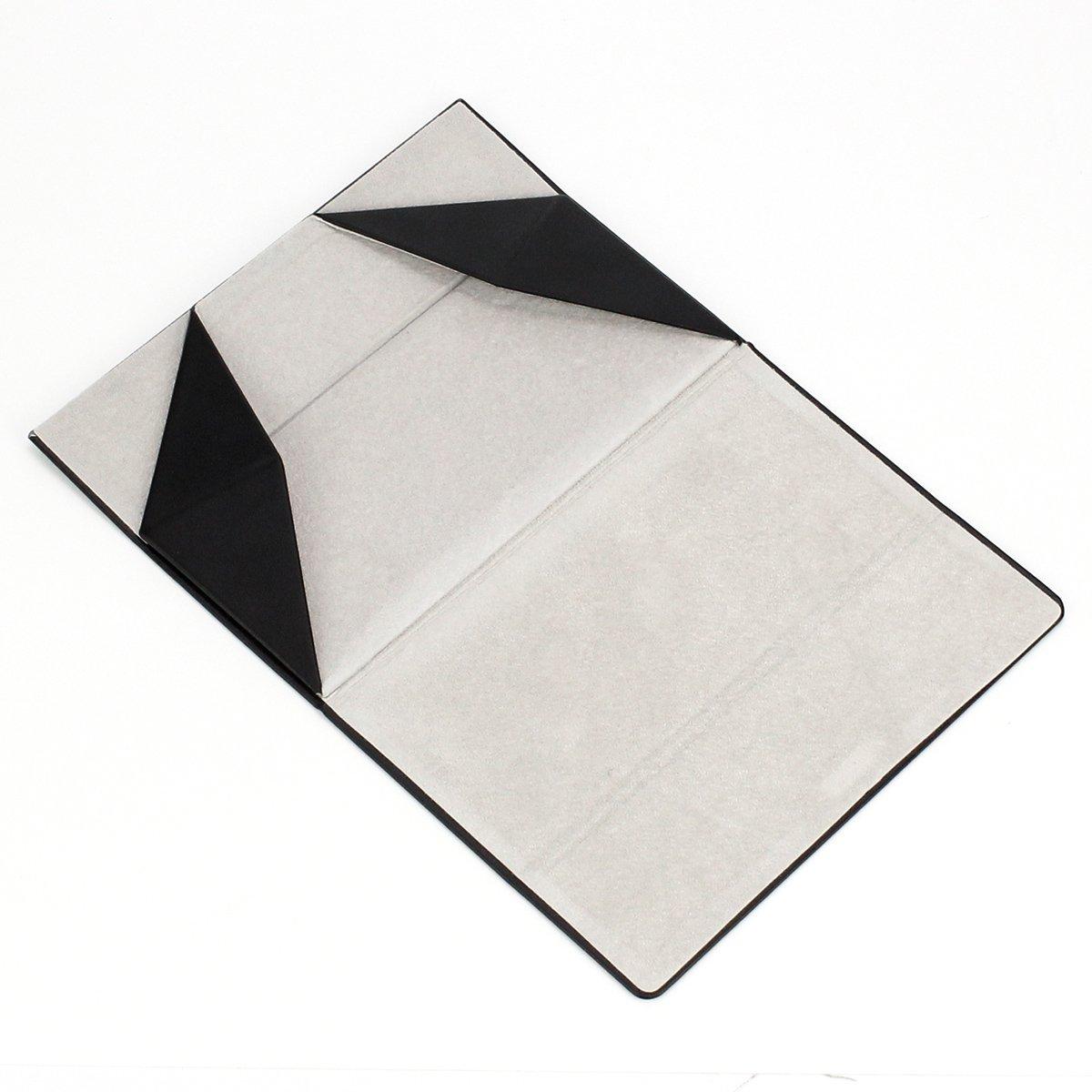 Folding Eyeglasses Case,Ezeso Portable Ultralight Retro Spectacles Box For Men Women 4