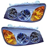 2001 Hyundai XG300 & 2002-2003 XG350 Headlight Headlamp Composite Halogen (non-HID, without Xenon) Front Head Light Lamp Set Pair Left Driver And Right Passenger Side (01 02 03)
