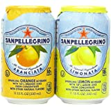San pellegrino Sparkling Beverage,  Lemon, Orange Variety, 11.15 fl. oz., 24 Count