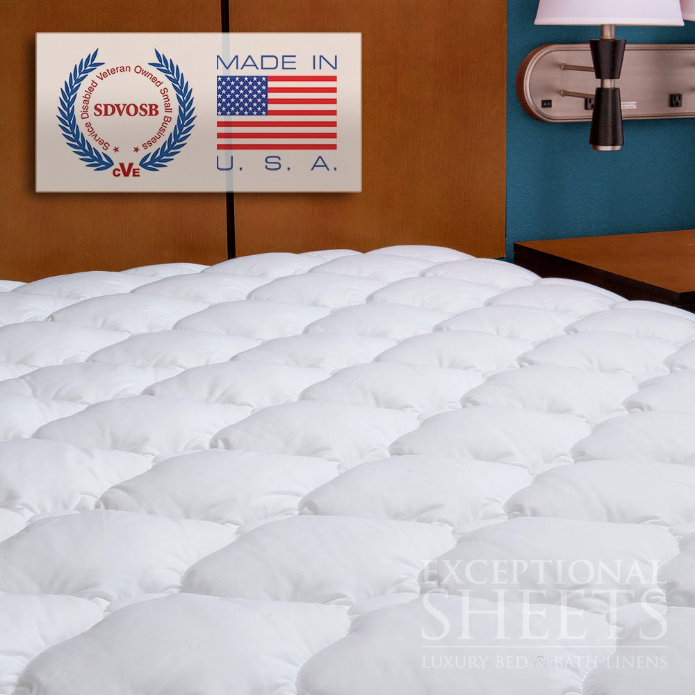 Exceptional Sheets ExceptionalSheets Five-Star Hotel Mattress Topper with Fitted Skirt