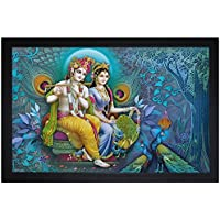 SAF Special Effect Textured Radhey Krishna Ji Painting (SANFO20, 30 Cm X 3 Cm X 45 Cm)