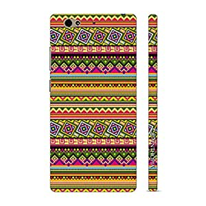 Enthopia Designer Hardshell Case Aztec Vibrance Back Cover for Gionee S6