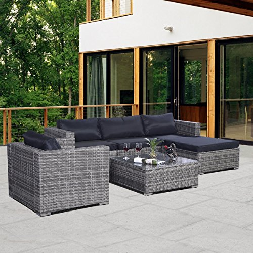 Spectacular MASCARELLO RATTAN GARDEN OUTDOOR WICKER PATIO FURNITURE INDOOR PCS SOFA SET W Cushions