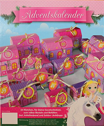 adventskalender 24 k stchen zum selber basteln und bef llen prinzessin. Black Bedroom Furniture Sets. Home Design Ideas