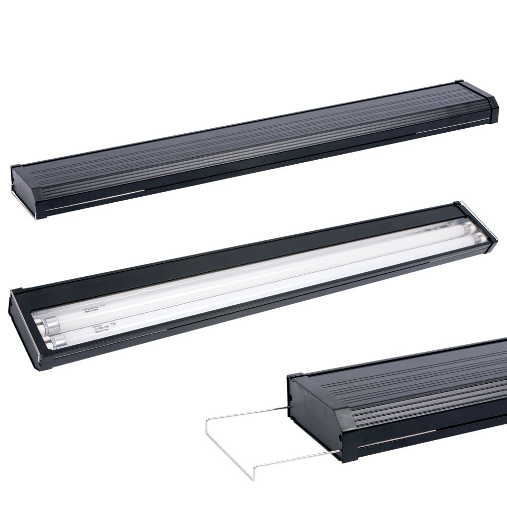 aqueon aqe40200 t5 dual strip lighting hoods for aquarium. Black Bedroom Furniture Sets. Home Design Ideas