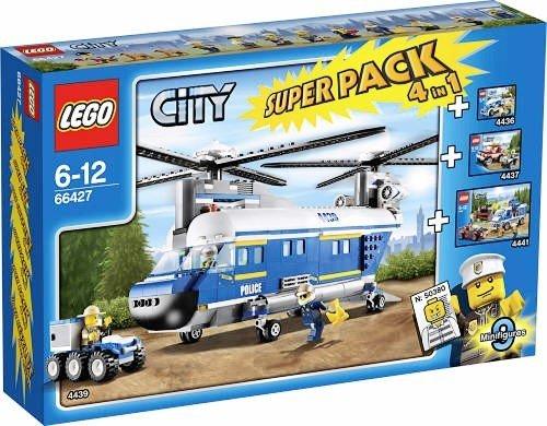LEGO 66427 City Polizei Hubschrauber 4 in 1 Superpack / Set (4436 + 4437 + 4439 + 4441)
