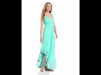 Gypsy 05 Women's Twist Shoulder Dress, Lagune/Twilight, Large
