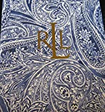 "Ralph Lauren Veranda Paisley Blue Tablecloth 60"" x 104"" Oblong"