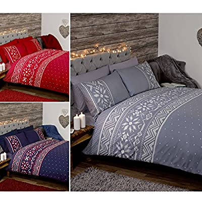 """Scandinavian""""Nordic"""" Winter snowflakes & Hearts Duvet Sets By Just Contempo"""
