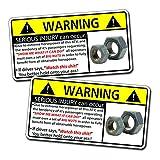 Funny ATV Four Wheeler Nuts Warning Decal Sticker 4x4