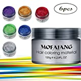 Spdoo 6 Colors Unisex Multi-Color Temporary Modeling Fashion DIY Hair Color Wax Mud Hair Dye Cream (Color: A 6 colors)