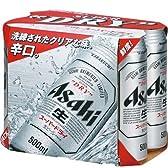 アサヒ スーパードライ 500ml×6缶パック