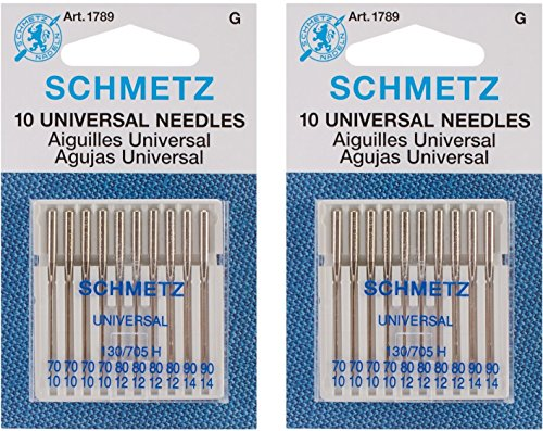 Euro-Notions Universal Machine Needles, 10-Pack (2 pack)