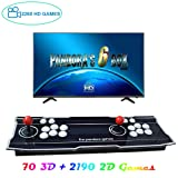 XFUNY Arcade Game Console 1080P 3D & 2D Games 2260 in 1 Pandora's Box 70 3D Games 2 Players Arcade Machine with Arcade Joystick Support Expand 6000+ Games for PC / Laptop / TV / PS4 (Stripe) (Color: Stripe)