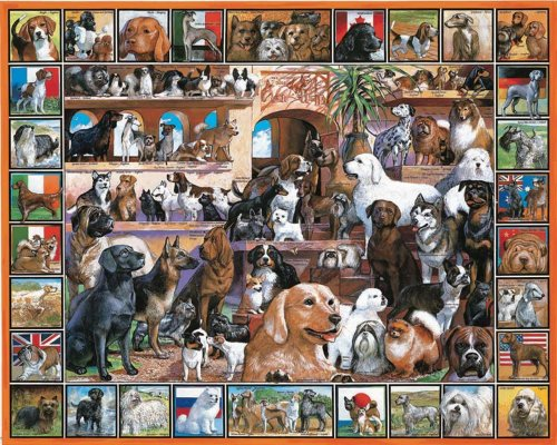 Cheap Fun White Mountain Puzzles World of Dogs (B00000JJ66)