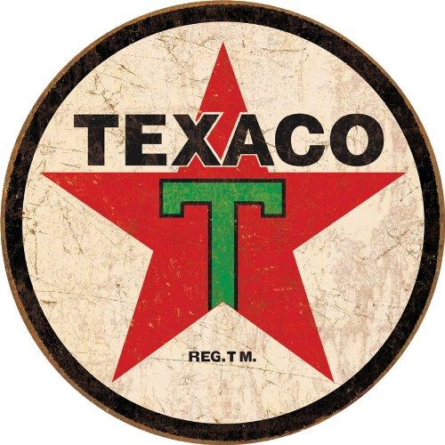 Tin Sign Texaco Round.
