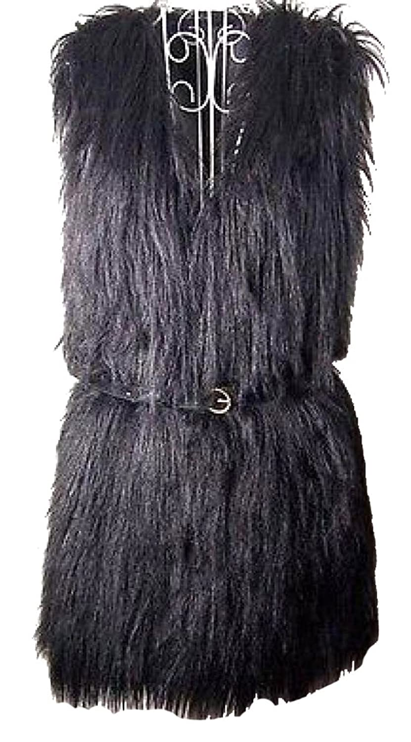 Фото Ideal4dress Women's Faux Fur Vest Coat curved faux fur vest
