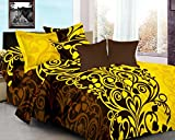 Ahmedabad Cotton Basics 100% Cotton Double Bedsheet With 2 Pillow Cover , Multi