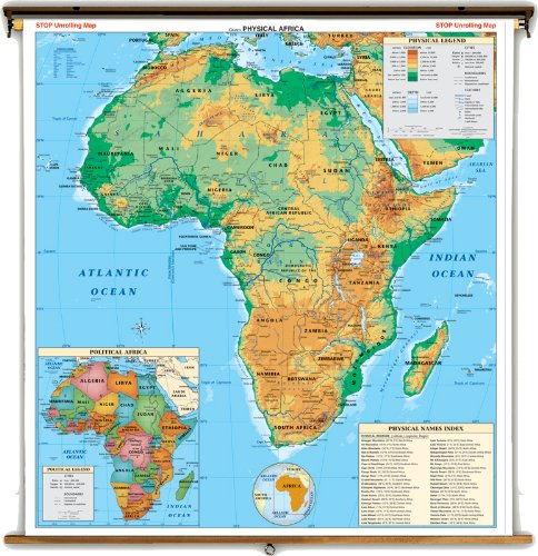 political map of europe and africa. Large Map of Africa with a