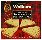 Walkers Shortbread Petticoat Tails 150 g (Pack of 24)