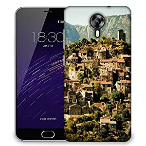 Snoogg Abstract Houses Designer Protective Phone Back Case Cover For Meizu M2
