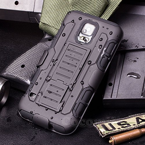 Galaxy S5 Mini Case, Cocomii® [HEAVY DUTY] Galaxy S5 Mini Robot Case **NEW** [ULTRA FUTURE ARMOR] Premium Belt Clip Holster Kickstand Bumper Case [MILITARY DEFENDER] Full-body Rugged Dual Layer Hybrid Protective Cover Bumper Case [COCOMII WARRANTY] ::: The Ultimate Protection from Drops and Impacts for your Samsung Galaxy S5 Mini G800 (Black/Black) ::: ★★★★★ (Galaxy S5 Mini Case compare prices)