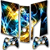 Abstract 10036, Snuggle Edition, Sticker for XBOX 360 Slim Game Console.