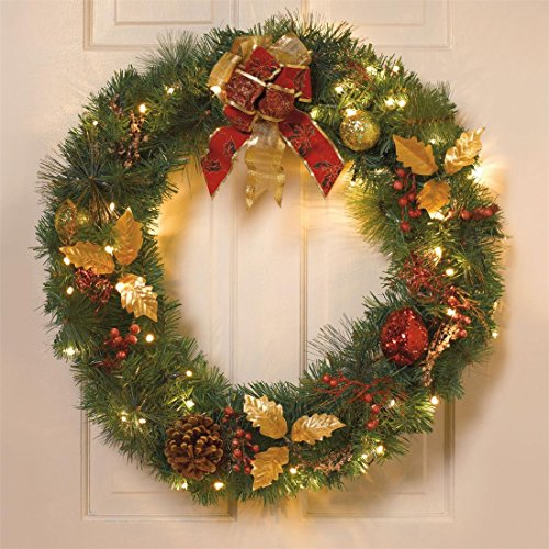 Pre Lit Christmas Wreaths Cordless
