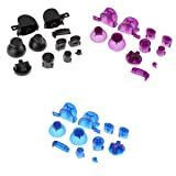 MagiDeal 3Set Unique Designed 11 in 1 Trigger ABXYZ Buttons + Thumbstick D-pad Mod Kit for Nintendo NGC Controller