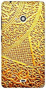 The Racoon Grip printed designer hard back mobile phone case cover for Microsoft Lumia 540. (golden int)
