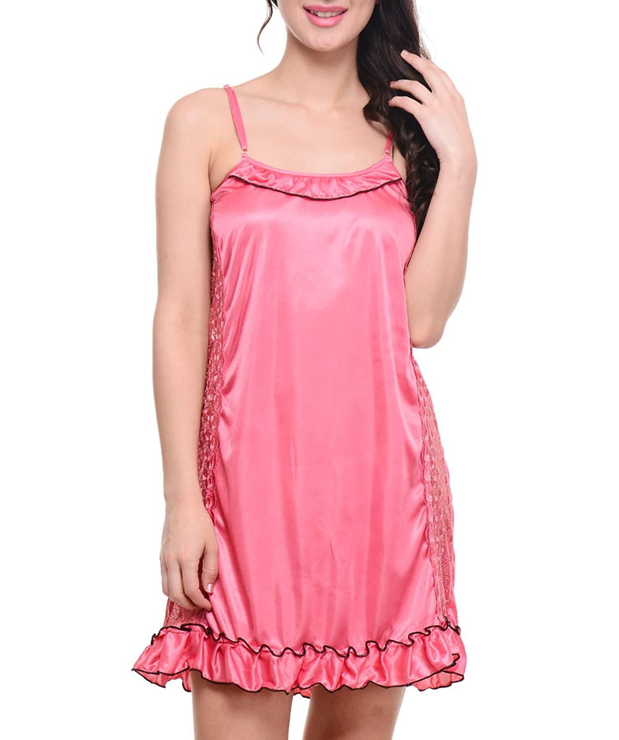 Myntra offers you a vast range of night dresses online from the warm and cosy to the uber sensual night dress, it's all there online at Myntra. Get crazy with your girl gang at a sleepover and click away photos for your scrapbook in flannel night dresses for girls by N-Gal, Camey or Pretty Secrets that have colourful animated prints on them.