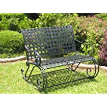 Mandalay Iron Double Patio Rocker