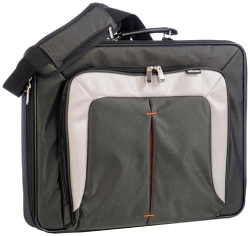 ULTRON-NB-Tasche-396cm-156Zoll-UT-15-m-extra-Faechern-Schultergurt-Farbe-schwgrau-carbon-Spritzwasserschutz-Material-Polyester